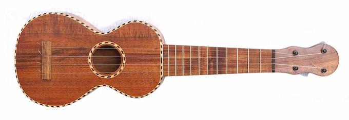 An old island style of soprano ukulele made from Australian blackwood.