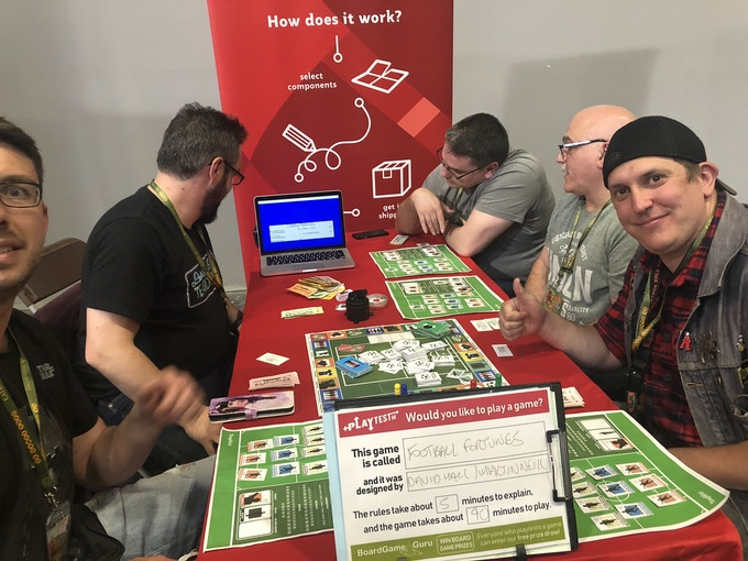 Some Football Fortunes superfans came along to the UK Games Expo in Birmingham to join us for a playtest session. Their feedback was excellent!