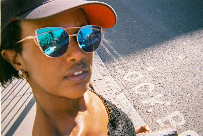 Look, Crouch Hill, by Suban Osman. Top 20 photo (not in 2020 calendar). Suban took this shot of herself. She  attends an art group run by One  Housing in Camden Town. Subana attends an art group run by One Housing.