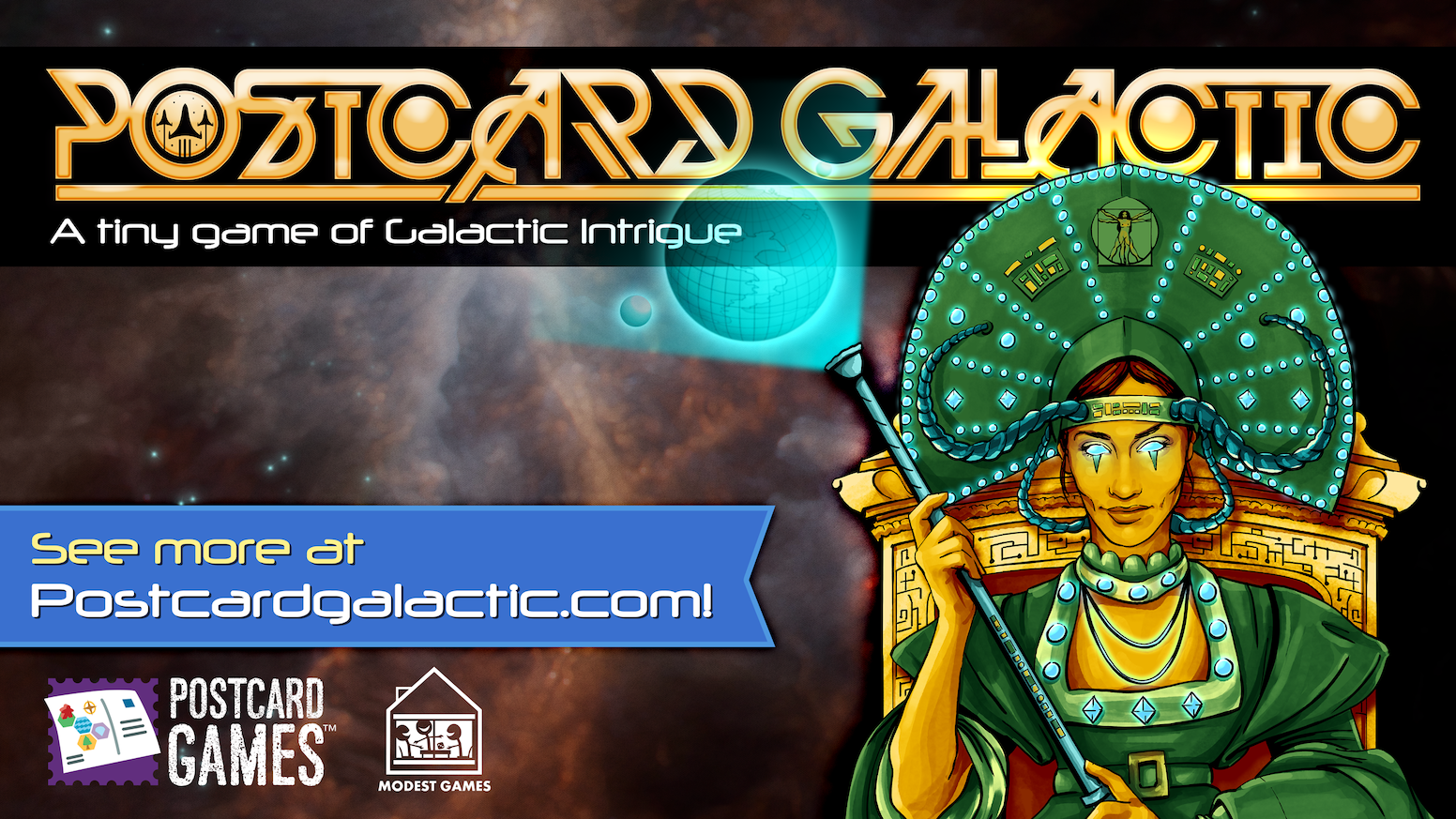 A tiny game of Galactic Intrigue. Own the most portable game of Interstellar Stratagem ever made.