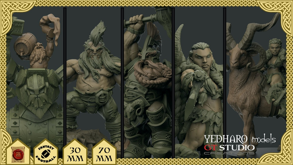 Dwarf Miniatures by Yedharo Models and GT Studio Creations. project video thumbnail