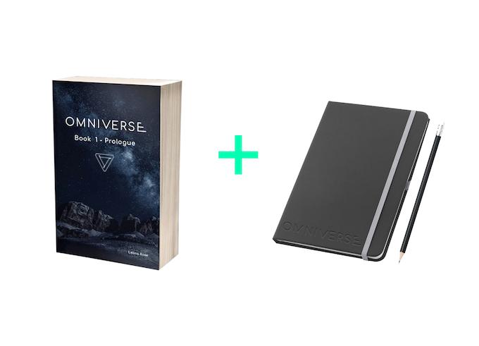 Limited edition book level (limited edition copy of Omniverse: book 1 + unique bonus puzzle + artwork + embossed notebook + pencil + unlocked bonus goals)