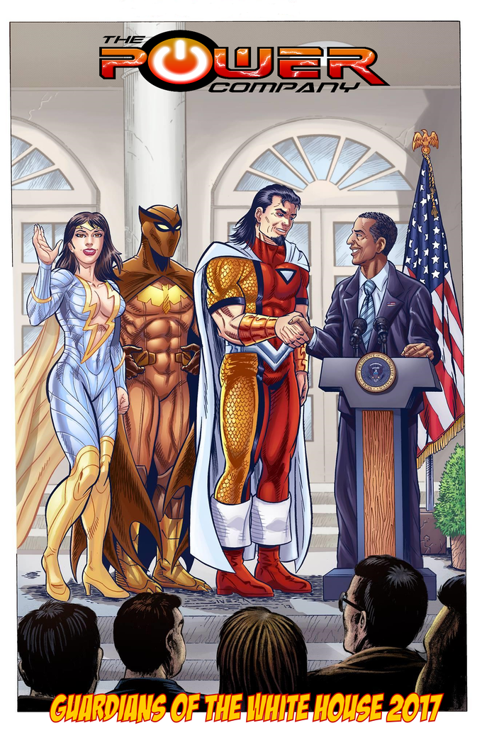 The original Guardians of the White House from issue #1 (Buy in tier exclusives)!
