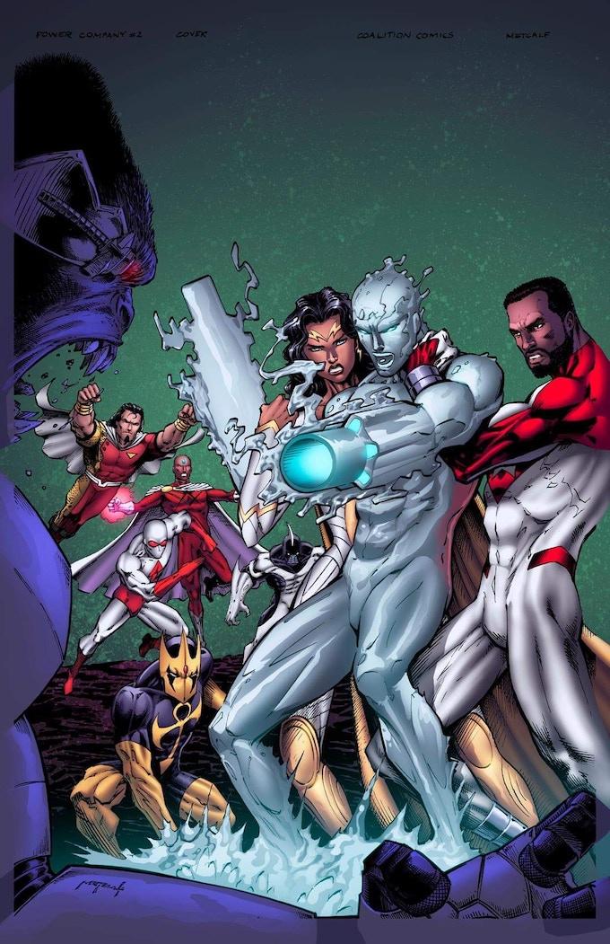 Jason Metcalf PC #2 cover. Colors by Memo Regalado.
