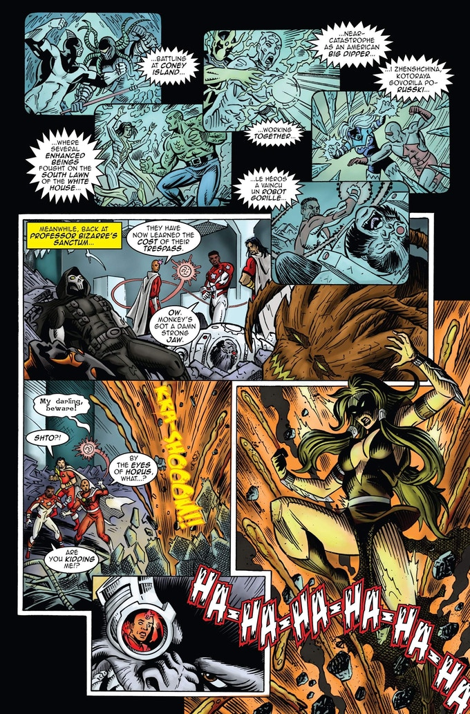 """PC #2 Preview 07 """"Enter Vastatrix and the laughing Ape """""""