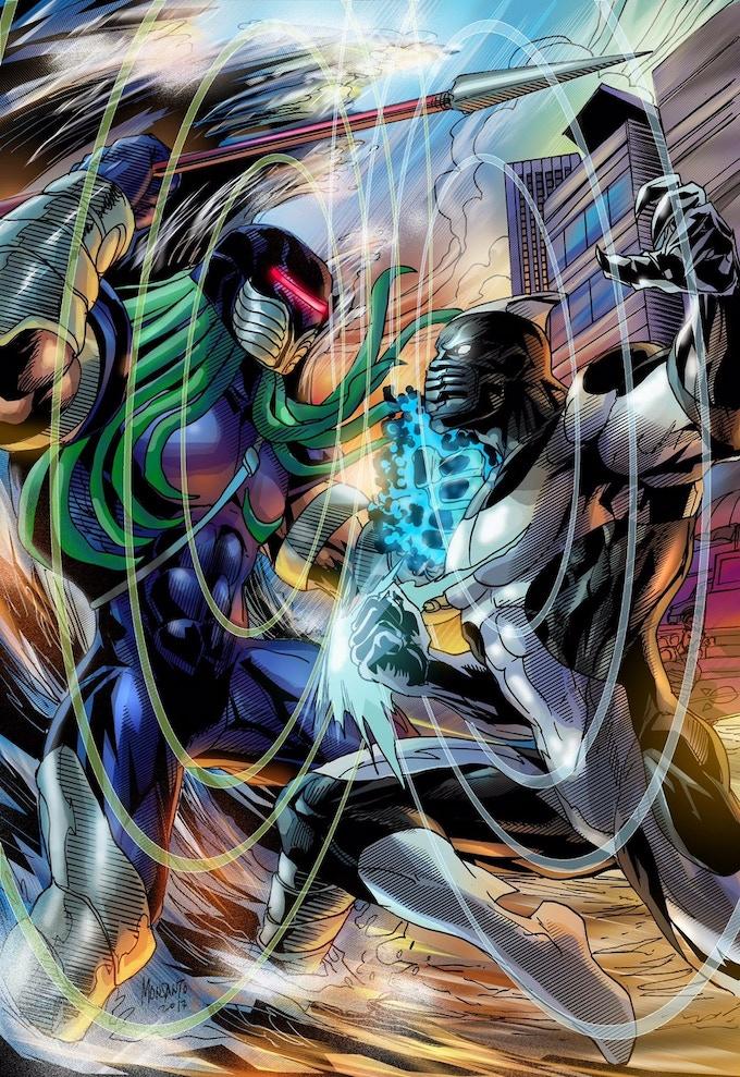 Killer Wail vs Krakyn! The birth of an eternal battle! Art by Gilbert Monsanto.