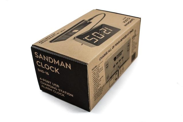 The Sandman Clock packaging