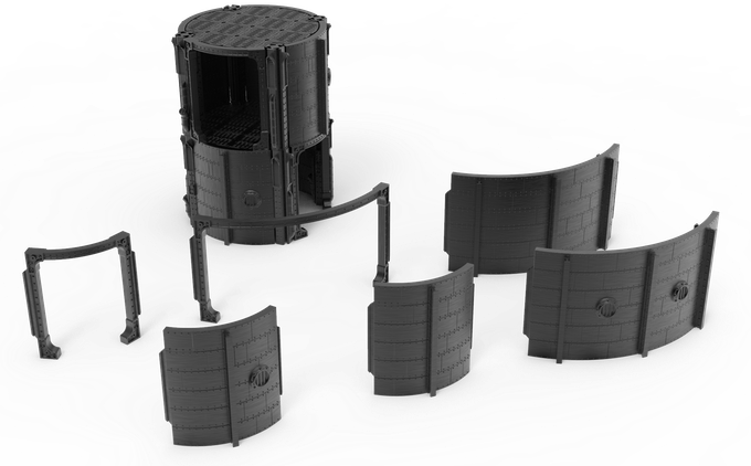 The System Also Supports Curved Walls