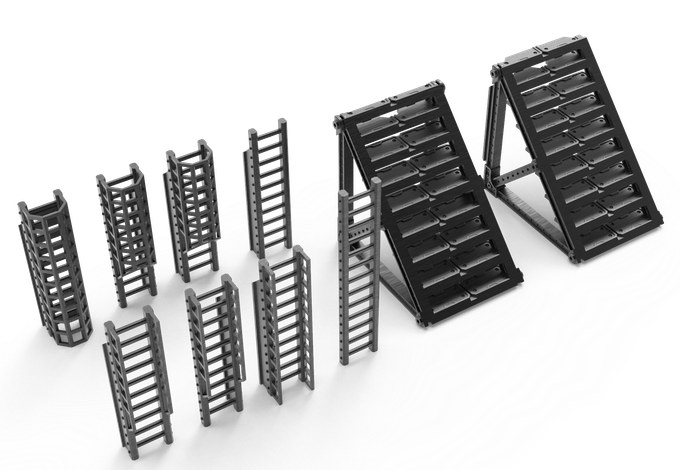 Ladders and Stairs (Mini bases fit between them)