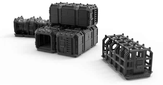Kickstarter Freebie: Orbital Navy Shipping Containers