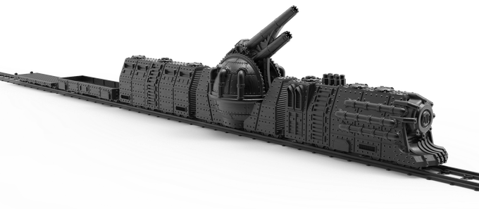 Kickstarter Freebie: Orbital Navy Heavy Rail Train