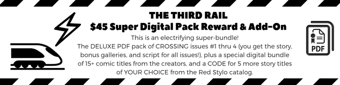 Backers can either find the THIRD RAIL reward in the list OR add the bundle to your package at any level!