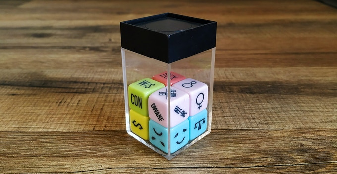 Chessex box for scale, they fit nicely and are compatible with almost all dice accesories.