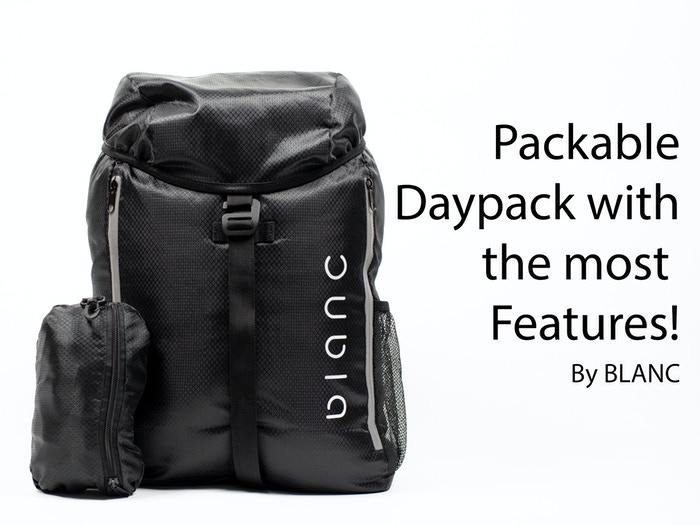 This packable daypack boasts 25L capacity, weatherproof 30D ripstop nylon, anti-theft pockets, and much more!