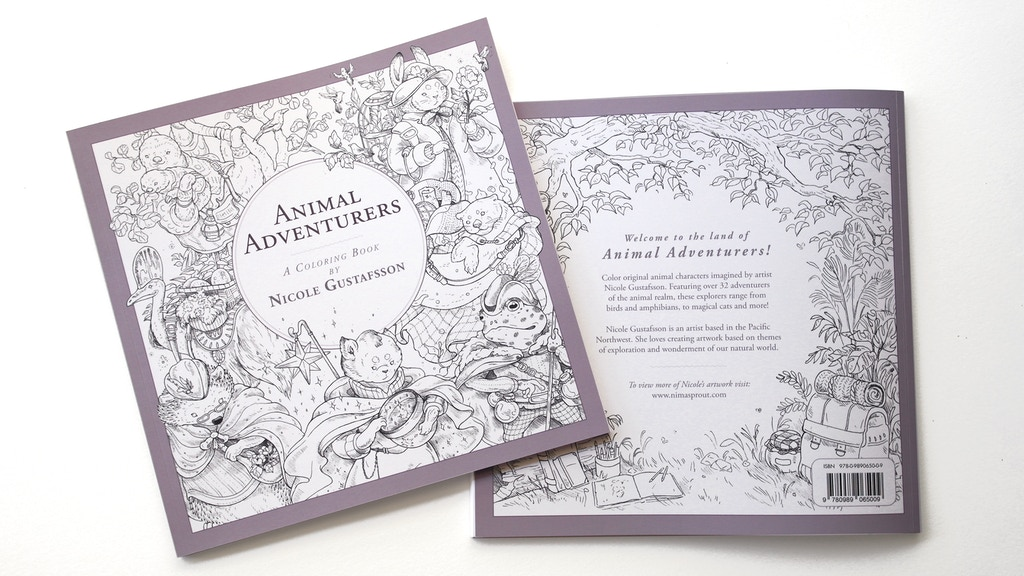 Project image for Animal Adventurers: Coloring Book