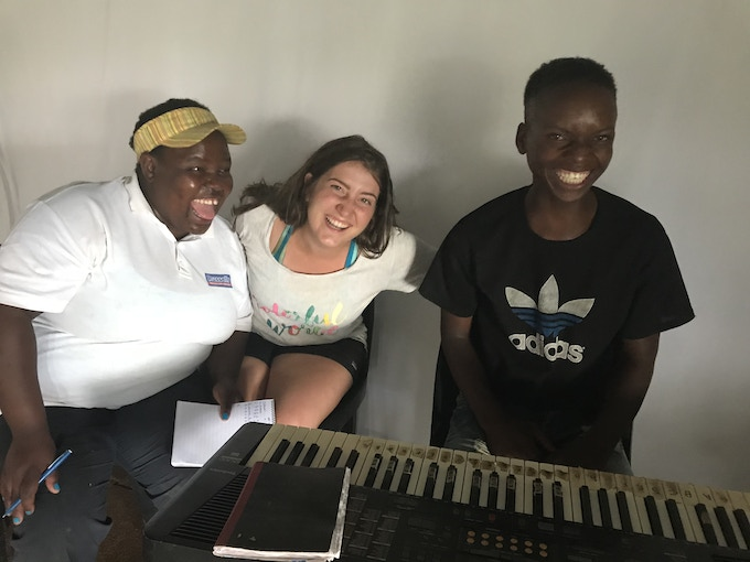 My piano students in Africa.