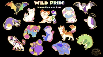 Wild Pride: LGBT Animal Enamel Pins
