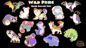 Wild Pride: LGBT Animal Enamel Pins