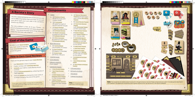 Here's a quick screenshot of the first spread in the main Rulebook. We're obviously still working on it (especially the visual components list on the right) but it's really coming together and you can see the overall style we're going for.