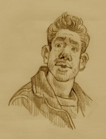 Artist Turner Mark-Jacobs, feeling sketchy.