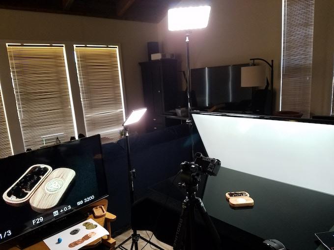 Shooting the Medallion Dice box photos