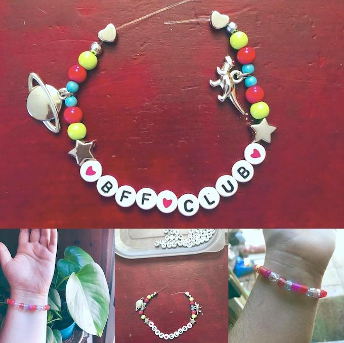 Some friendship bracelets by Lucia!