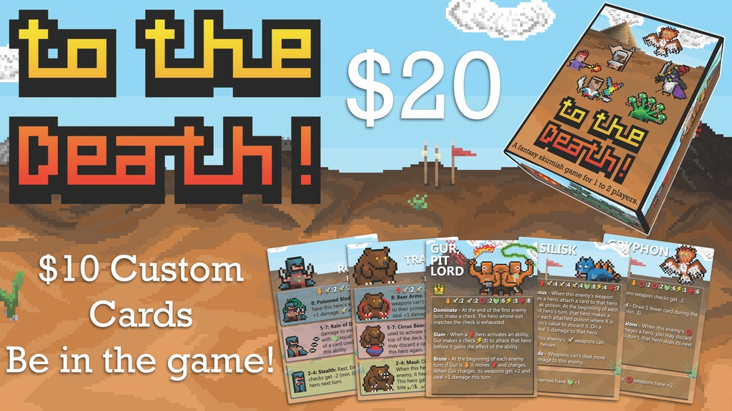 To The Death! - A Tactical Skirmish Game for 1-2 Players by