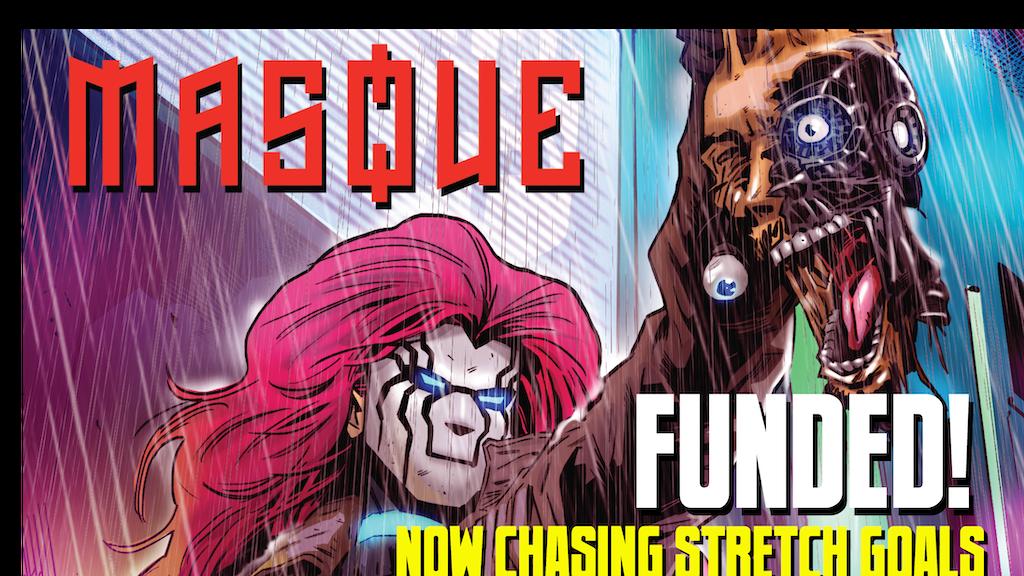 Masque #1-2 - cyberpunk noir thriller comics project video thumbnail