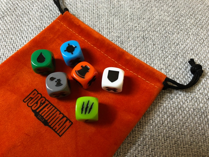 We're very happy with the dice (there will be two of each). Hope you like the Scar die!