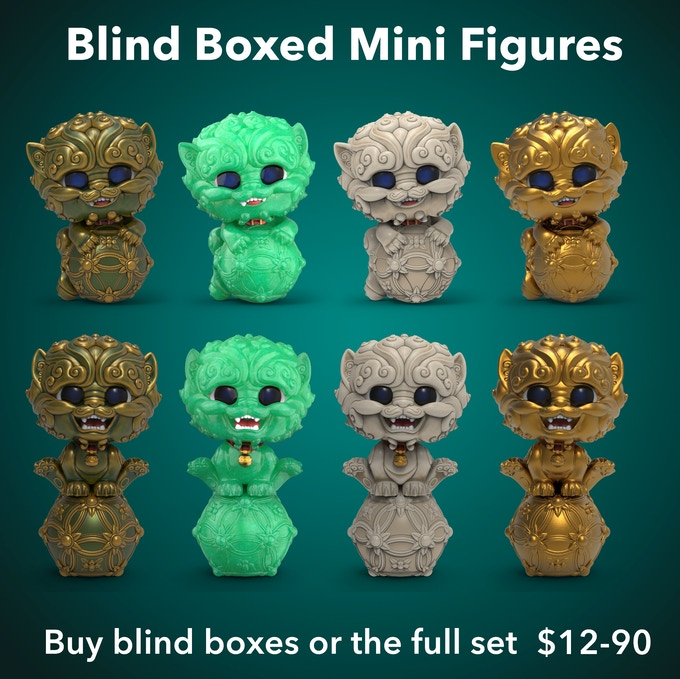 Mini figures can be purchased as blind boxes, or you can purchase a full carton/full set of 8.