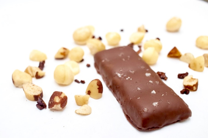 Our brazil nut bars will be covered in keto dark chocolate