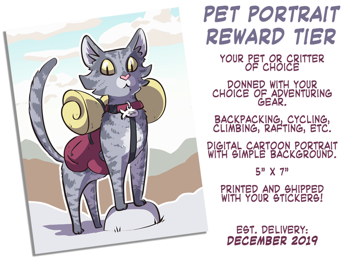 Portrait details will be collected from backers after campaign completion.