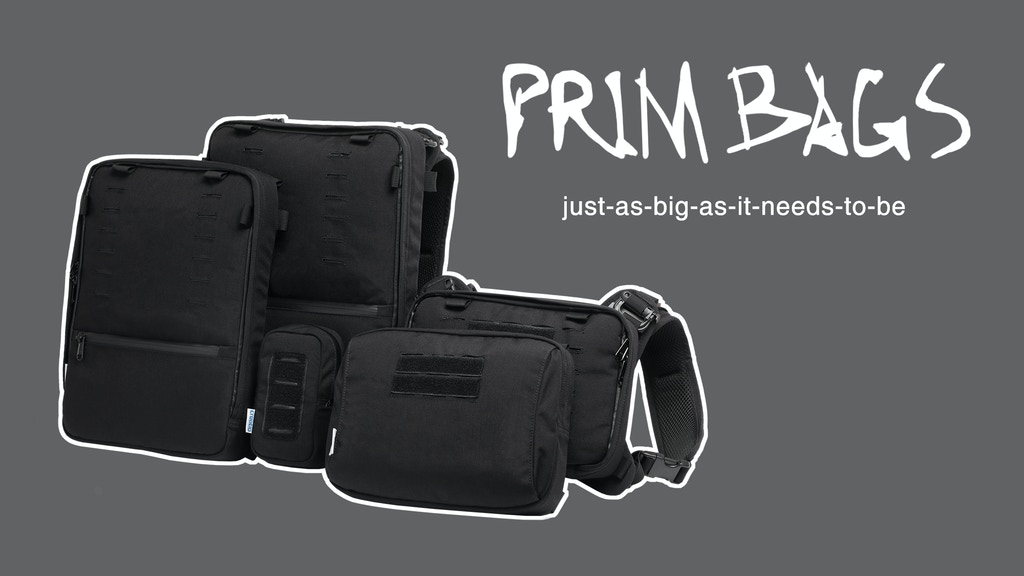 PRIM BAGS: just-as-big-as-it-needs-to-be urban backpack project video thumbnail