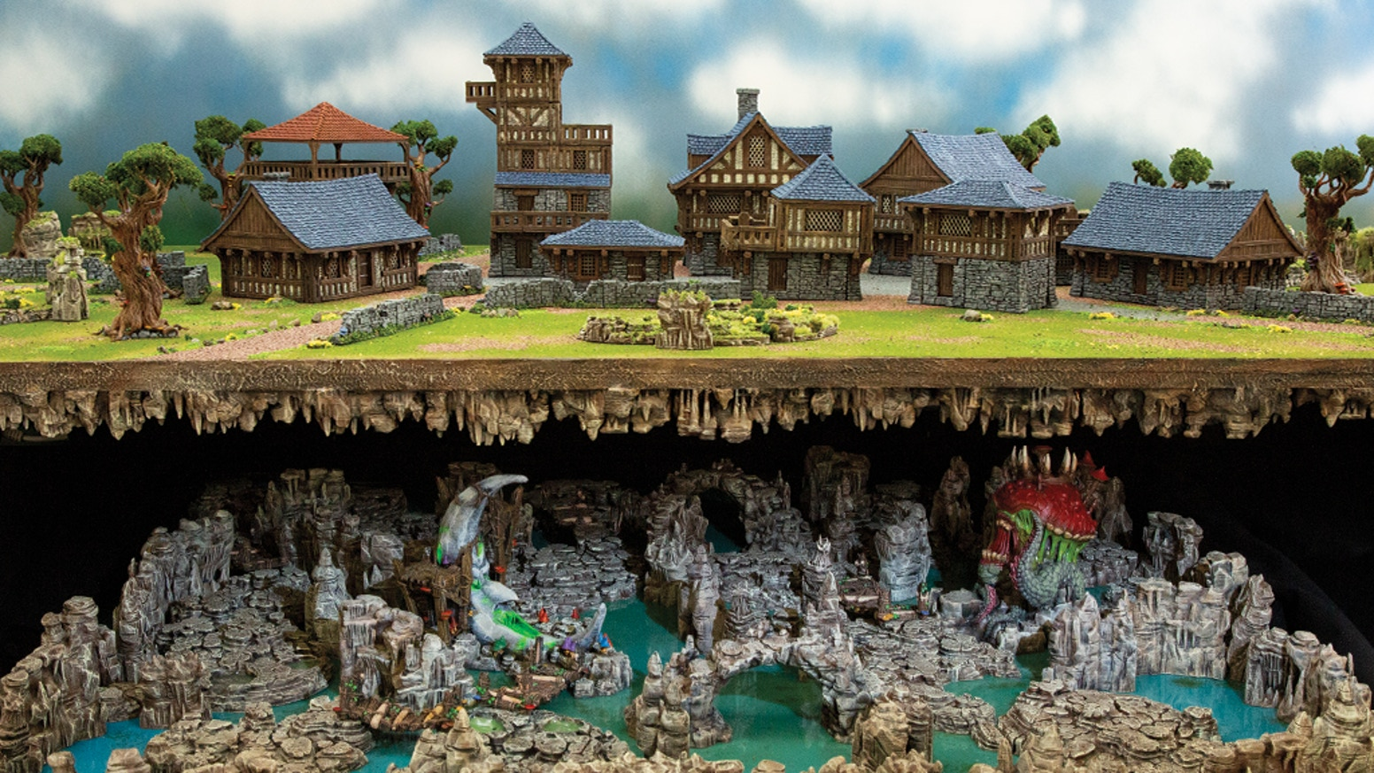 Design your own 3D printable buildings and underground caverns with 3D printable scenery for wargames and RPG