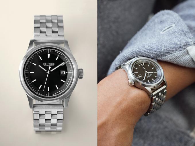 Field Watch (Black Type I) on Stainless Steel