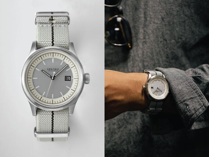 Field Watch (Ivory Type I) on Nylon Strap (Grey)