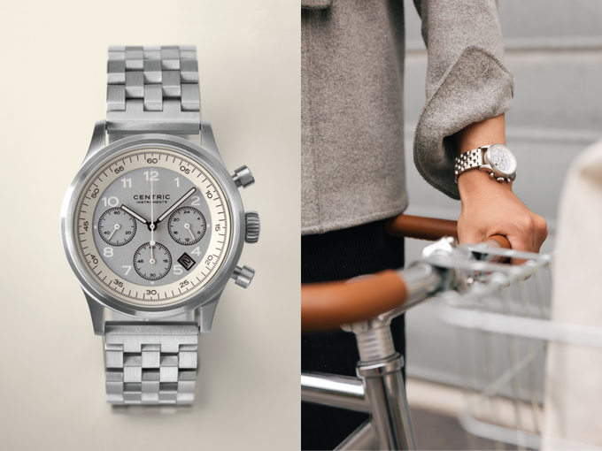 Chronograph (Ivory Type II) on Stainless Steel