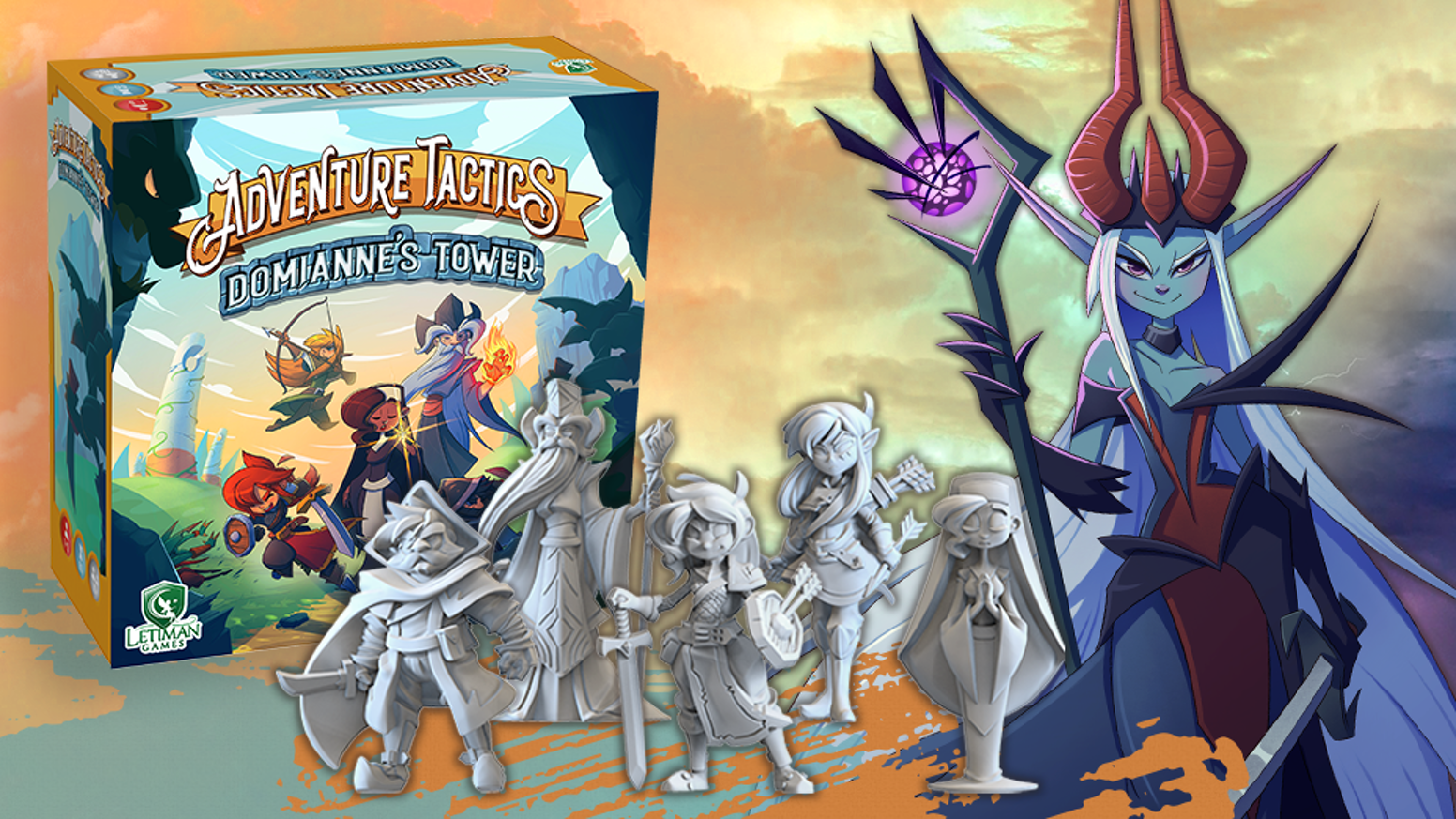 Adventure Tactics: Domianne's Tower is a co-op tactical combat game with deck-construction inspired by our favorite sRPGs (20+ classes)