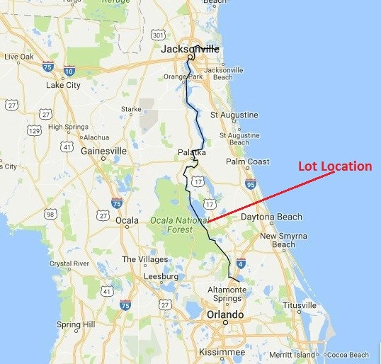 Lot Location (Volusia County Parcel # 580601000310)