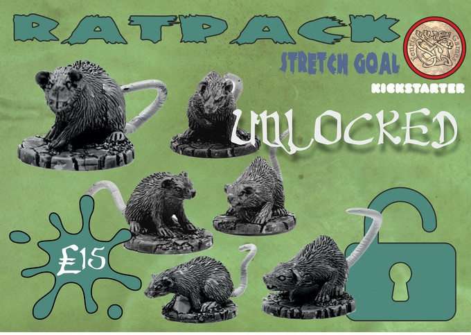 Add all six white metal rats to your Pledge for £15. Cheese not supplied.