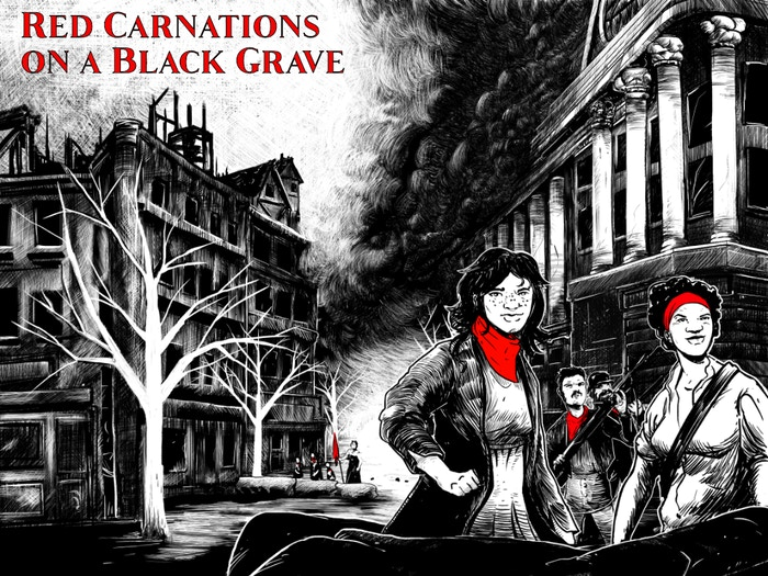 Red Carnations on a Black Grave