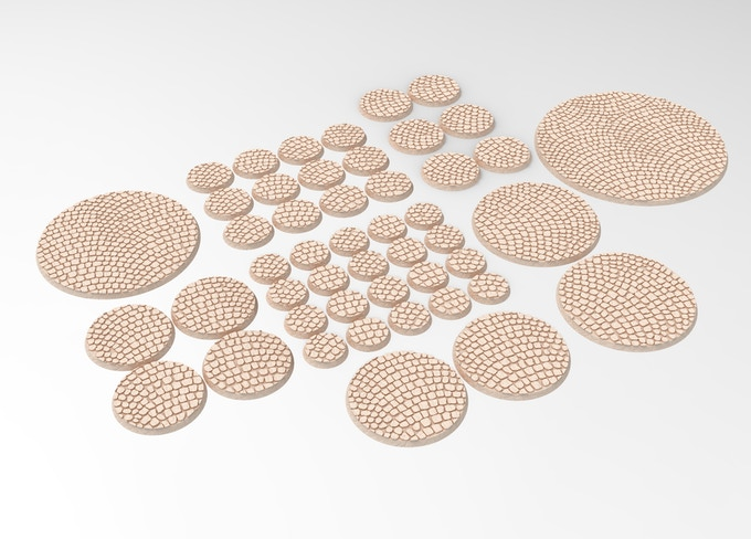 3D printable round bases