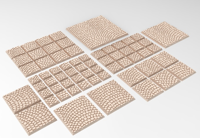 3D printable square bases