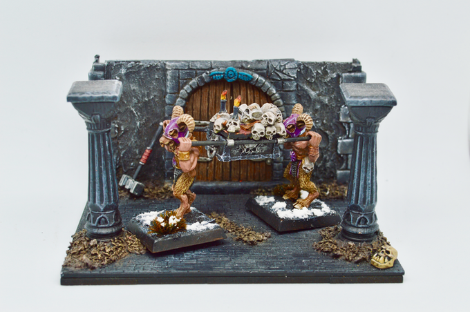 Goatmen War Altar - painted by Matt Gee