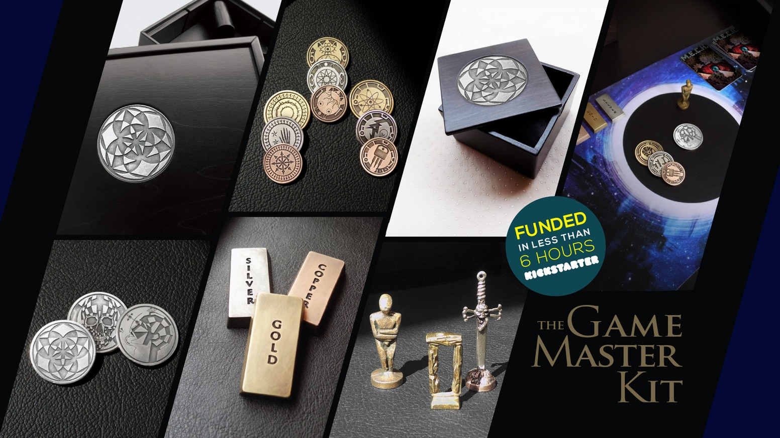 An All-in-one gaming collection. Premium metal coins, tokens, playmats, and pawns make your favorite game upgraded and new!
