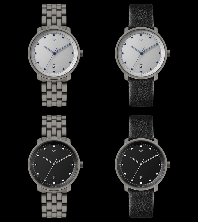 The v-matic EGO will be available on a 5-piece link titanium bracelet, or a genuine Italian leather strap. The classic is also available with a black dial for the first time.