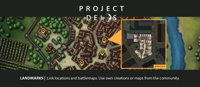 Pin locations and link them to battlemaps