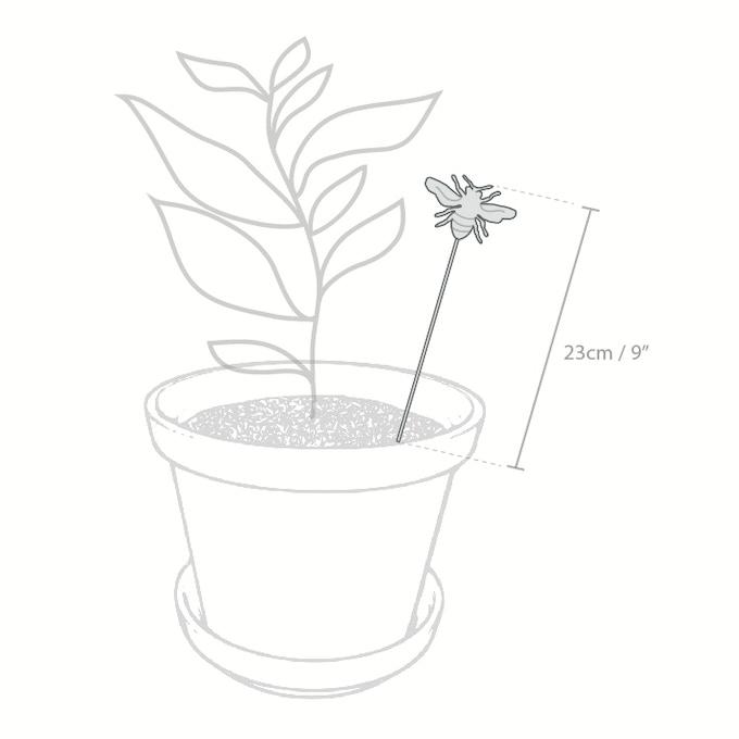 Abeja de cerámica para decorar tus macetas / Bee stick made in ceramics to decorate your plant pots