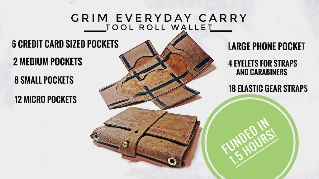 Grim Everyday Carry Tool Roll Wallet project video thumbnail