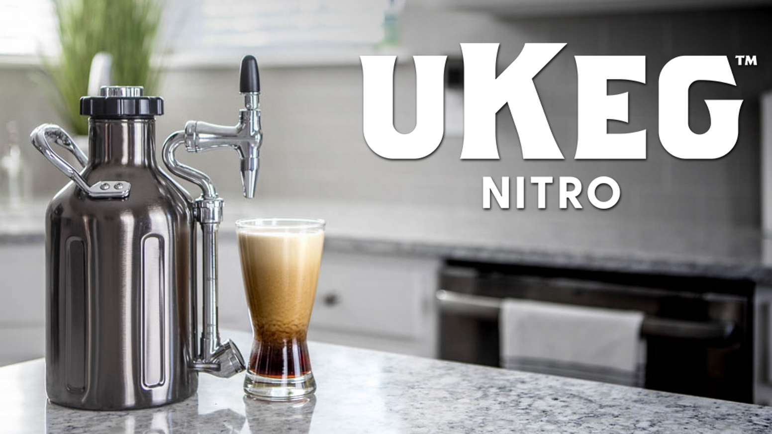 The first integrated nitro cold brew coffee maker and dispenser for the perfect at-home experience, now available.